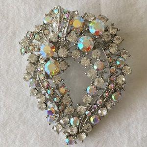 Gorgeous Vintage Crystal Brooch or Pendant